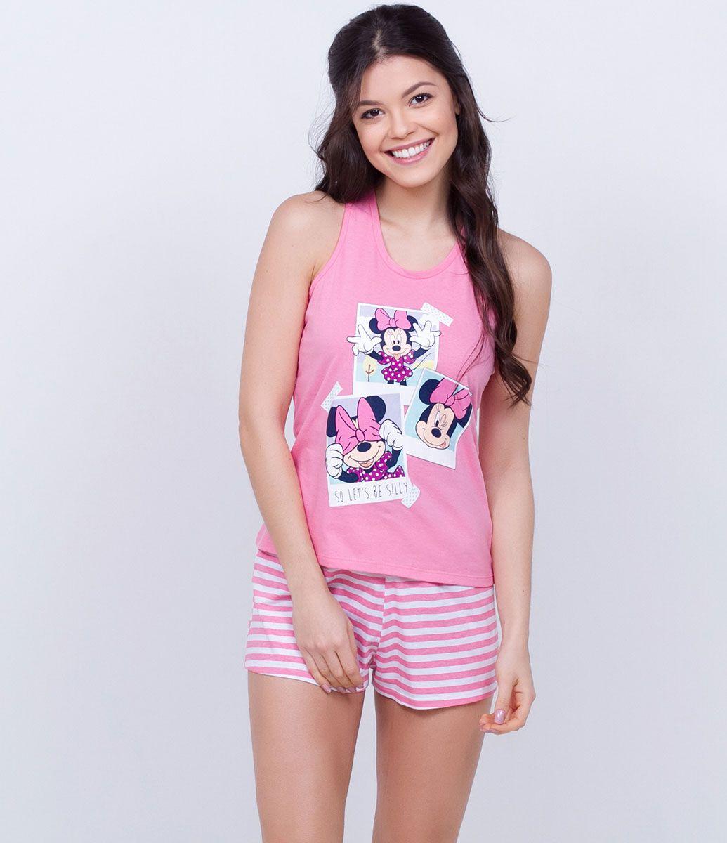 ca247fccf4e95b Pijama Short Doll com Estampa Minnie - Lojas Renner | Pajamas in ...