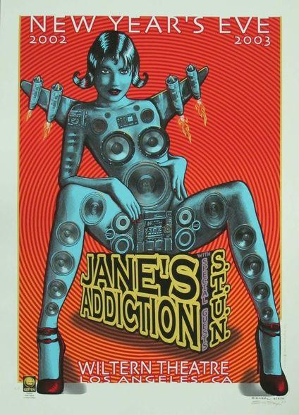 Jane's Addiction/Stun Original Rock Concert Poster