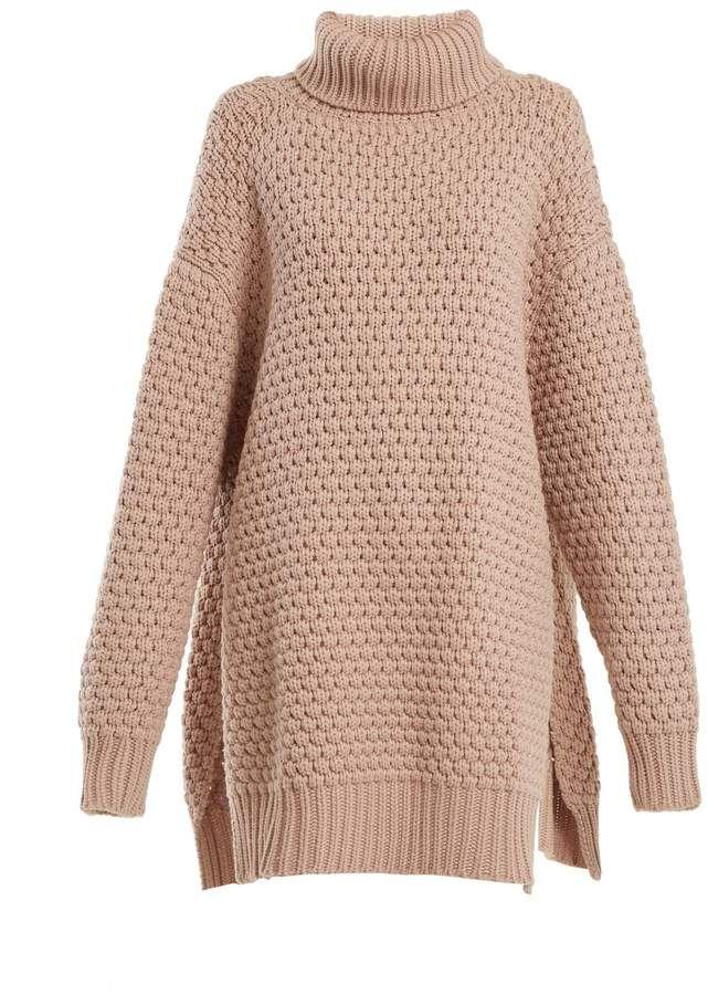 91aafcd86 Raey Split-side roll-neck bubble-knit cashmere sweater
