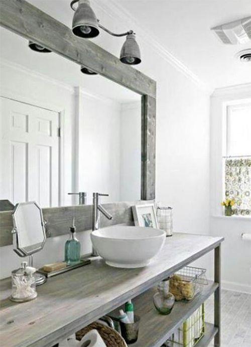 Salle de bain rustique decoration style indsutriel interior design