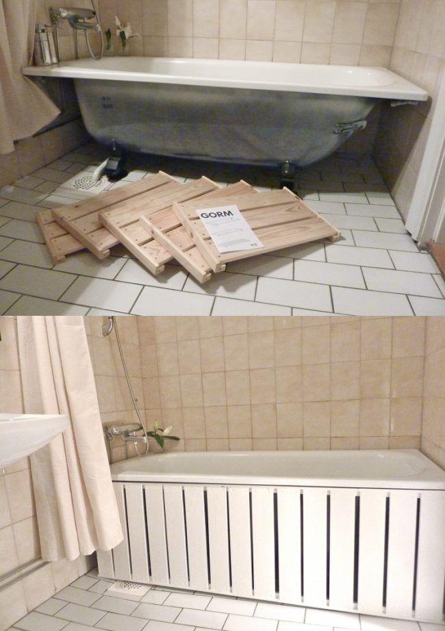 Badewanne Einmauern Ablage Anleitung Weiss Fliesen Duschvorhang Badewanne Minimalistisches Badezimmer Haus Deko