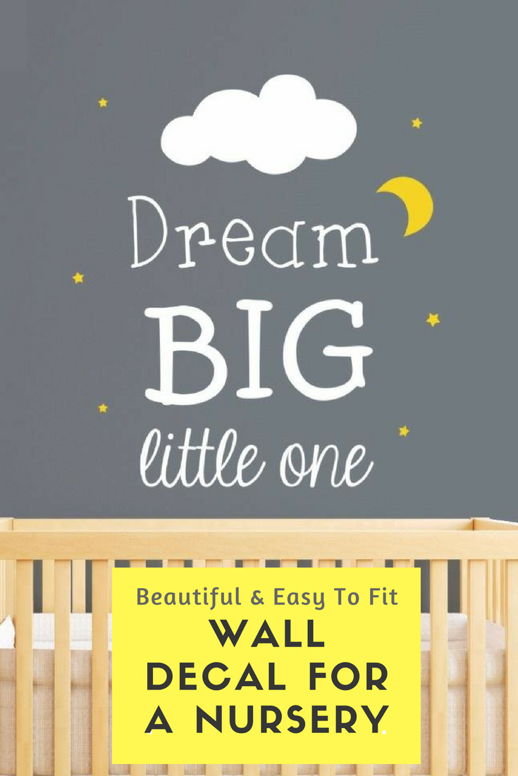 Dream big little one cloud wall stickers clouds nursery wall decal