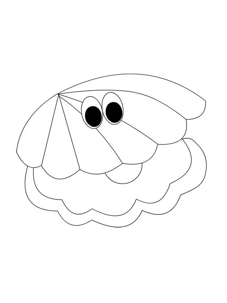 Shell Coloring Page Printable Shellfish Are Aquatic Animals Including Soft Bodied Animals Mollu Coloring Pages Animal Coloring Pages Printable Coloring Pages