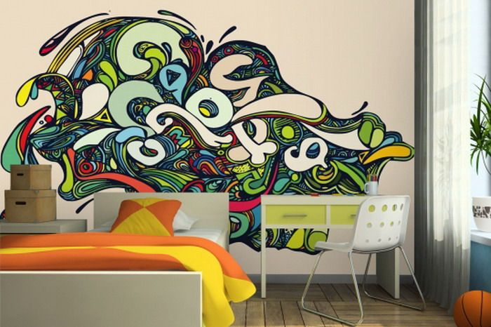 Wall Murals For Teenagers Rainbow Square Wallpaper Border Wall Decals Teen  Girls Room Decor . Part 73