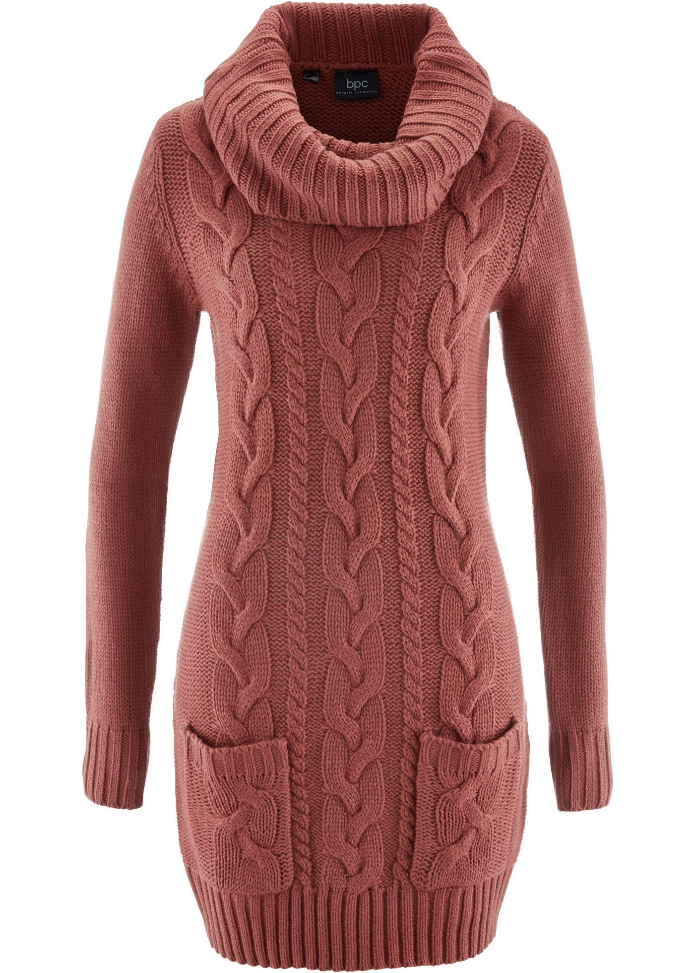 Commandez maintenant Robe en maille marron marsala - bpc bonprix collection  à partir de 23,99   sur bonprix.fr. Must-have de l hiver ! Superbe robe en . 7a004c8d21f4