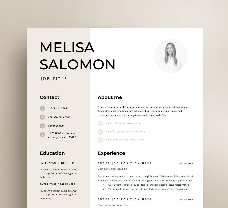 Resume Template Cv Template Resume Cv Design Teacher Etsy Desain Cv Brosur Desain