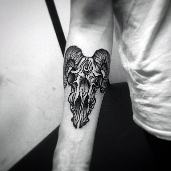 b433a1faa Image result for baphomet head tattoo   Boss Reyes   Tattoo designs ...