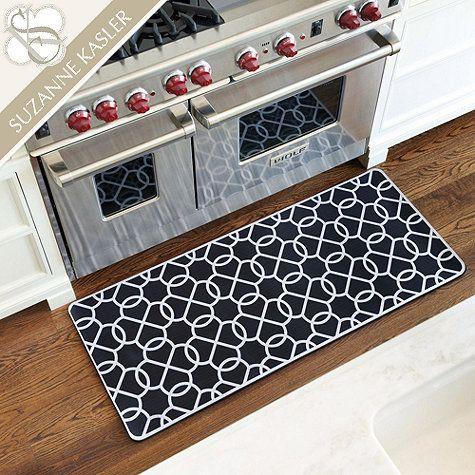 Attractive Suzanne Kasler Quatrefoil Comfort Mat Kitchen And For Garage Entry