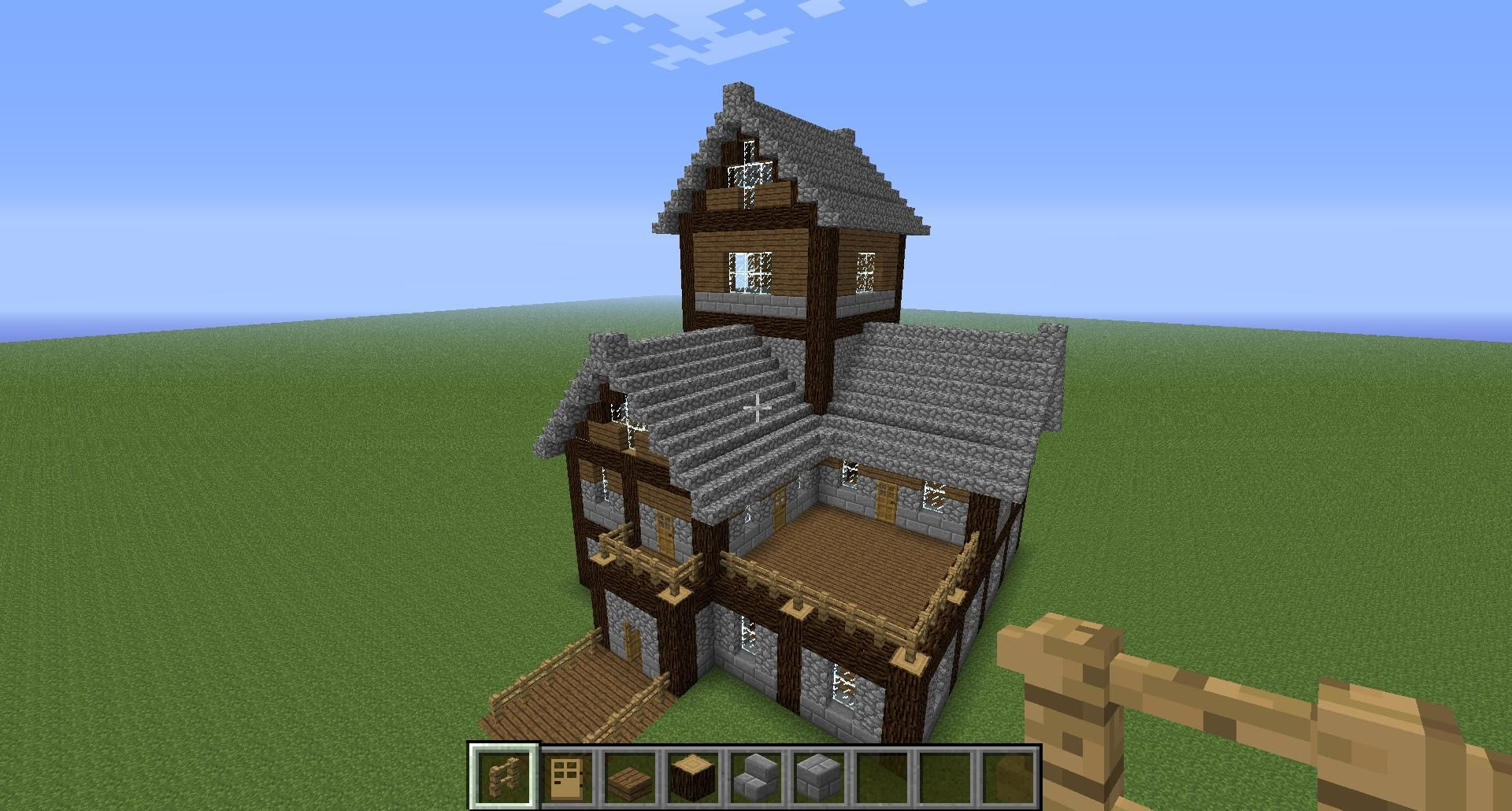 Beautiful Medieval House Tutorial! Creative Mode