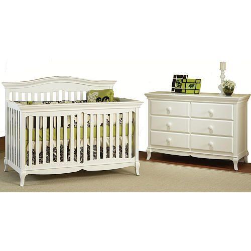 Pali Designs Mantova Forever Crib And Double Dresser White