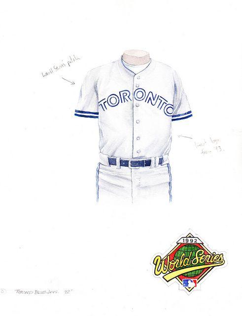 Toronto Blue Jays 1992 uniform artwork | Flickr - Photo Sharing!