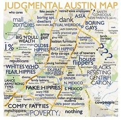 A Judgmental Map of Austin Neighborhoods | Funny | Austin ...