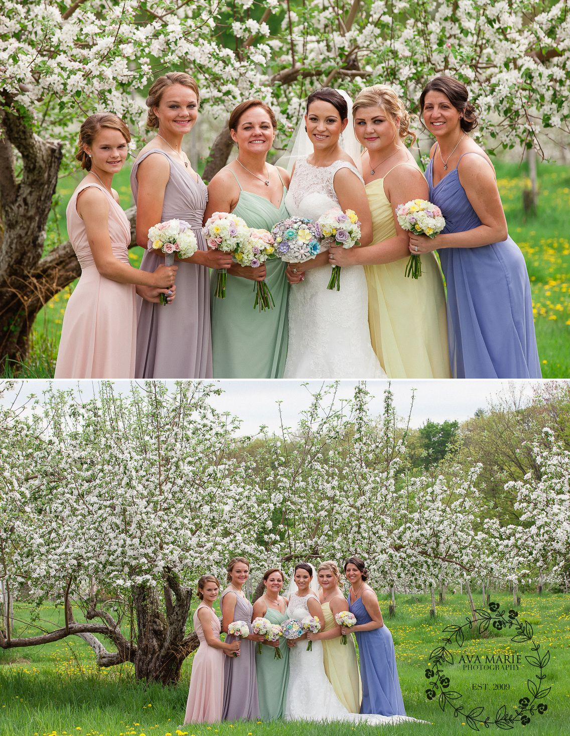 Mismatched bridesmaids in pastel dresses nh wedding photographer mismatched bridesmaids in pastel dresses nh wedding photographer ava marie photography ombrellifo Choice Image