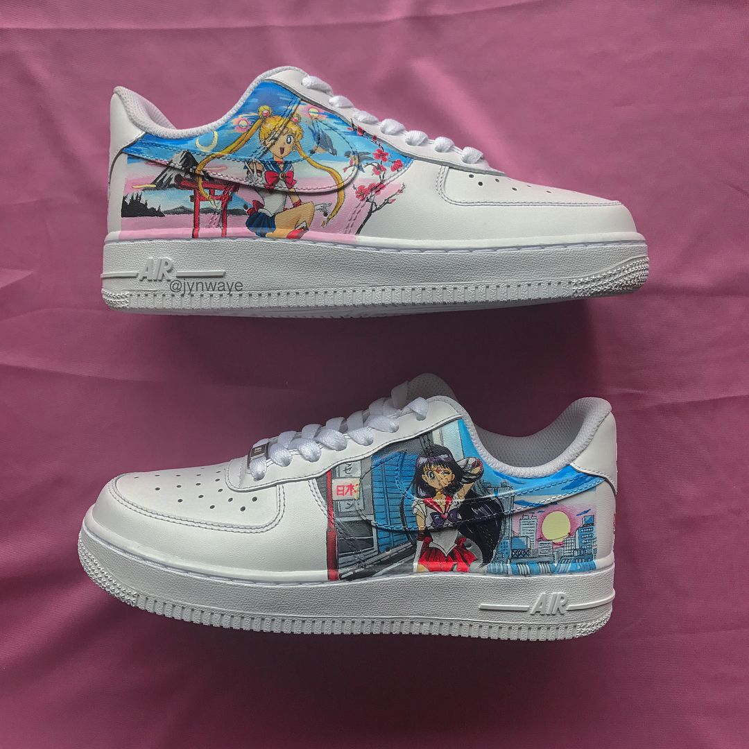 the best attitude a8e14 518fa Sailor Moon custom Air Force 1 Low