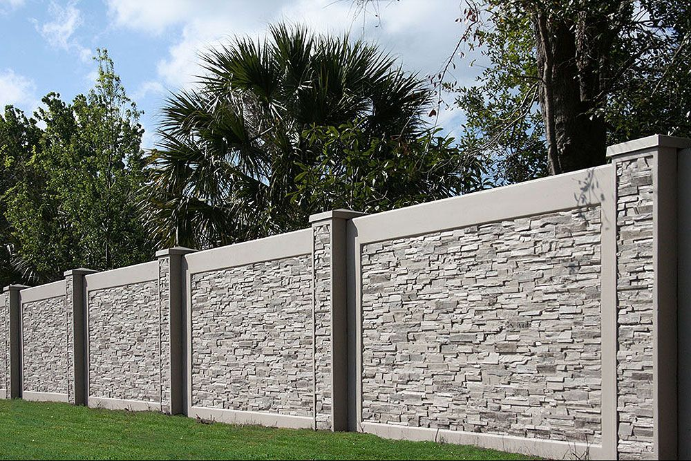 Boundary And Perimeter Walls Aftec In 2020 Fence Wall Design Exterior Wall Design House Fence Design