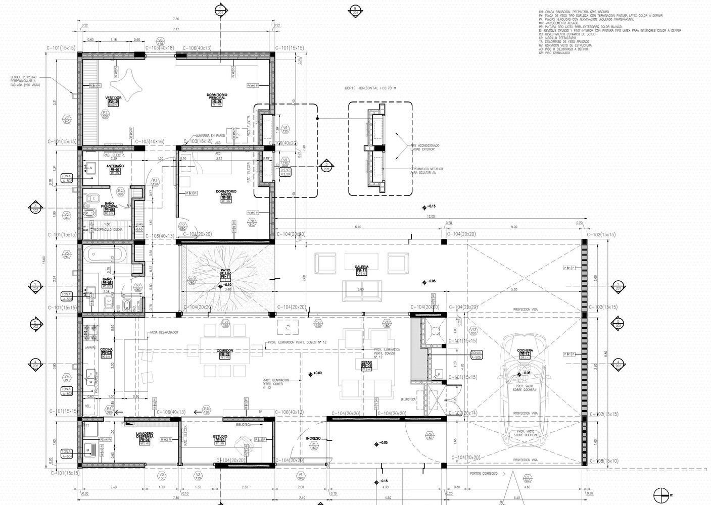 Galer a de casa corzuelas manuel gonzalez veglia for Dimensiones arquitectonicas