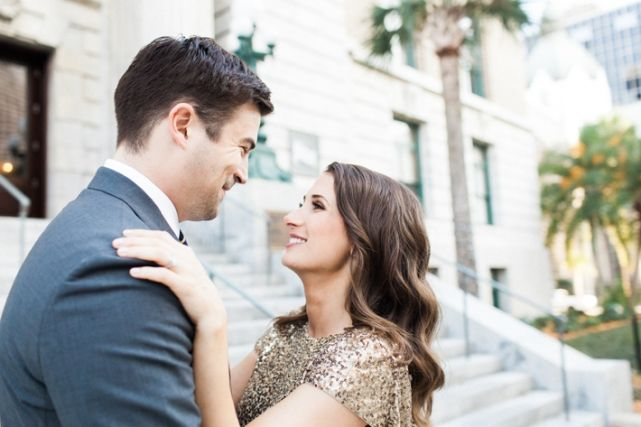 Tampa | Engagement Session | Le Meridien | Downtown Tampa | Romantic Glamorous Engagement Session | Papered Heart Photography