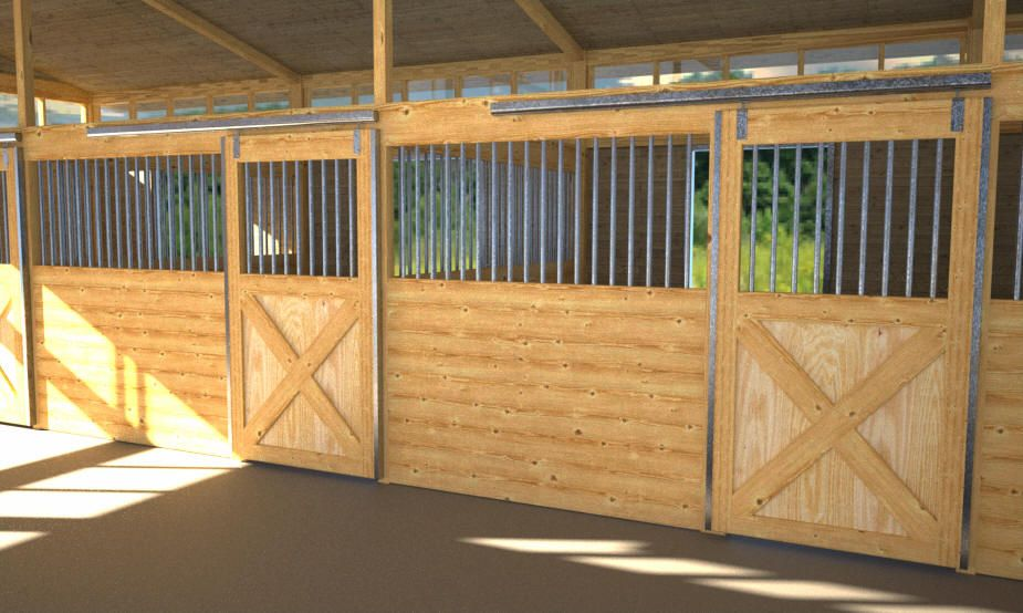 all star horse stalls 14 stall front package galvanized click image to close - Horse Stall Design Ideas