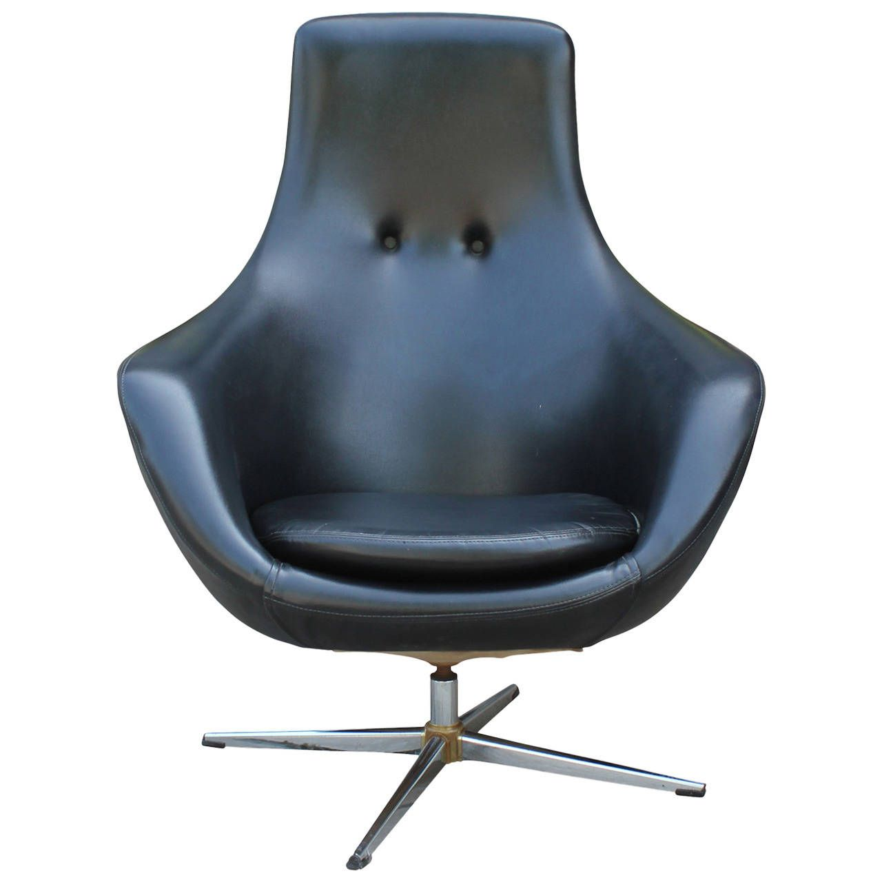 wonderful modern office lounge chairs 4 furniture. View This Item And Discover Similar Lounge Chairs For Sale At - Wonderful Egg Style Swivel Chair In Original Black Vinyl. Seat Is Tufted With Two Modern Office 4 Furniture