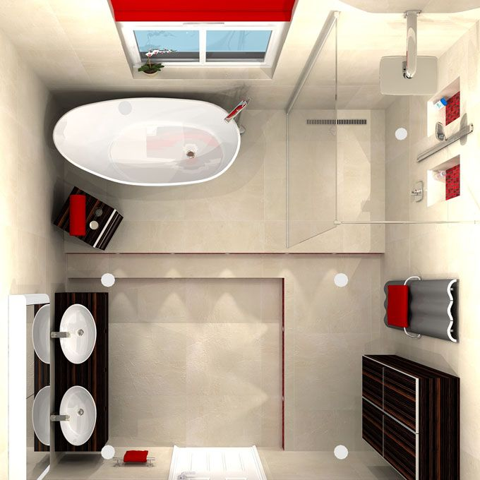 Image1Portraitplanview3D  Casa De Banho  Pinterest  3D Fair 3D Bathroom Designs Design Decoration