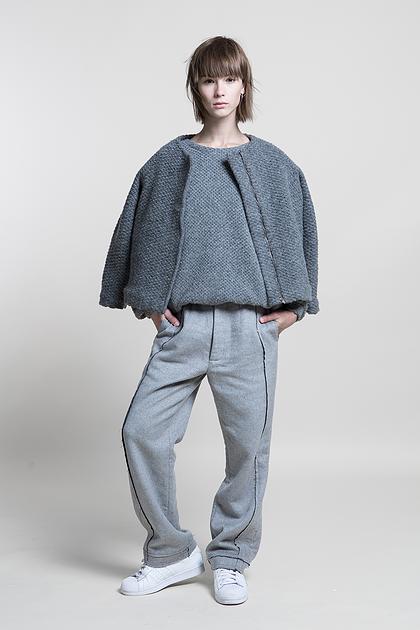 Texture Woolen Coat #Grey #Beige #nuditefashion #nudite #design #white #line #minimal #minimalist #simple #pale #plain #AW