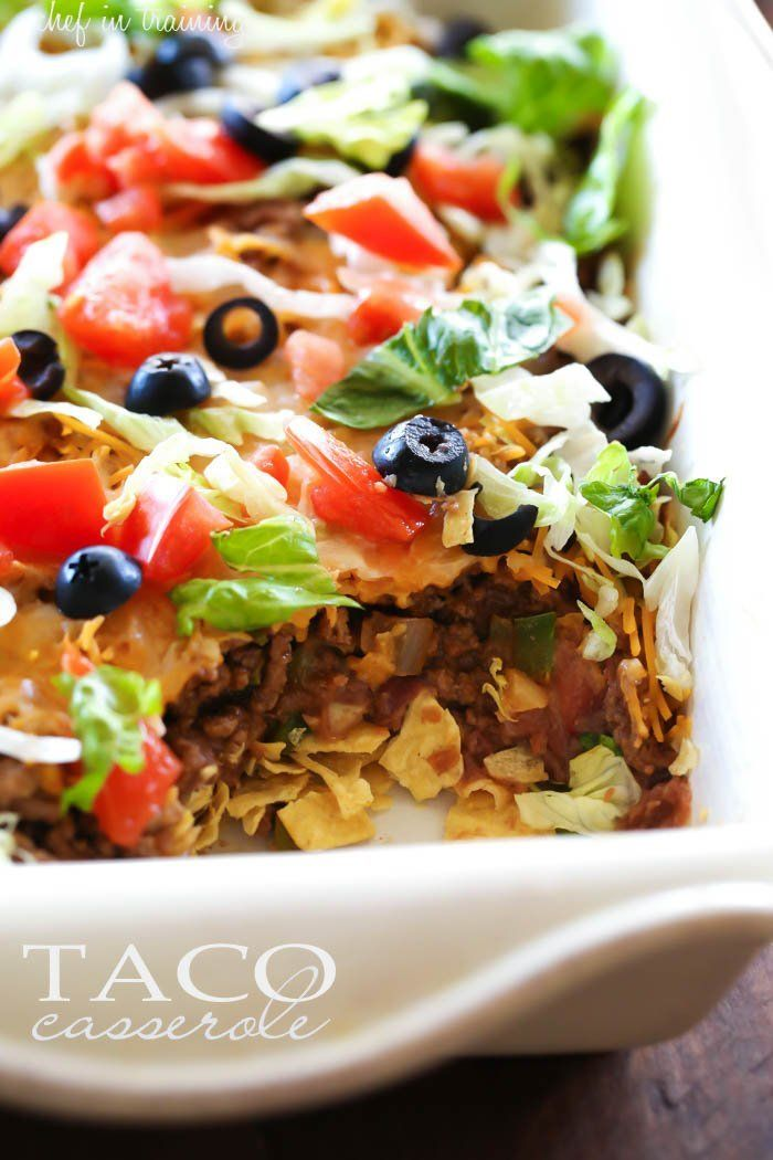 Taco Casserole @FoodBlogs