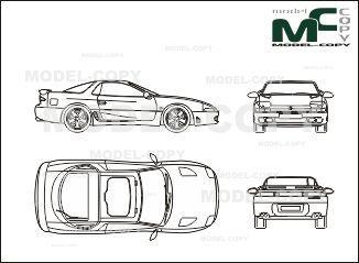Mitsubishi 3000gt blueprints ai cdr cdw dwg dxf eps gif mitsubishi 3000gt blueprints ai cdr cdw dwg dxf eps malvernweather Images