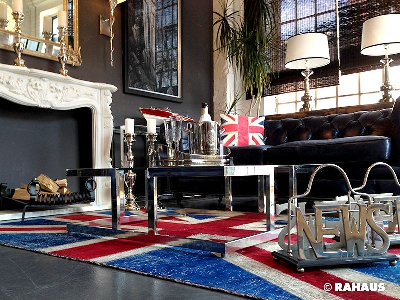 Rahaus De style berlin rahaus möbel kamin teppich unionjack