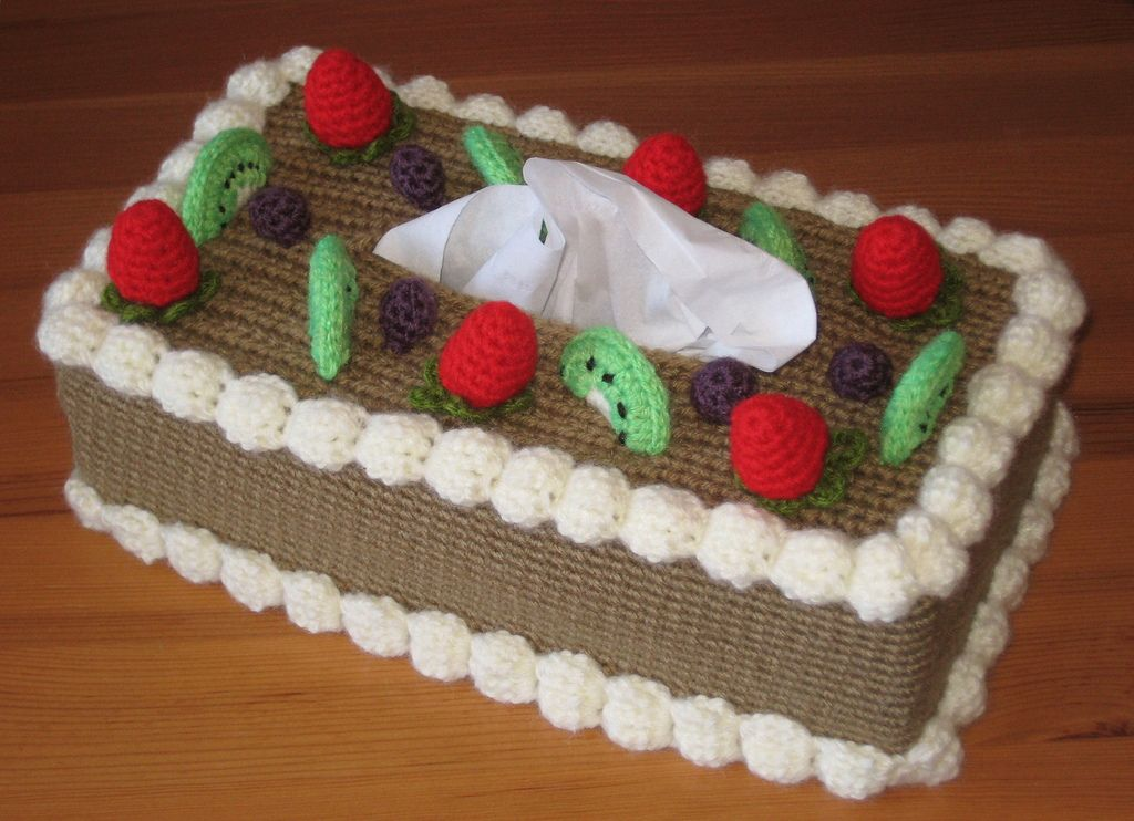 Ravelry: Chiffon Cake with Fruit Topping Tissue Box Cozy by Twinkie ...