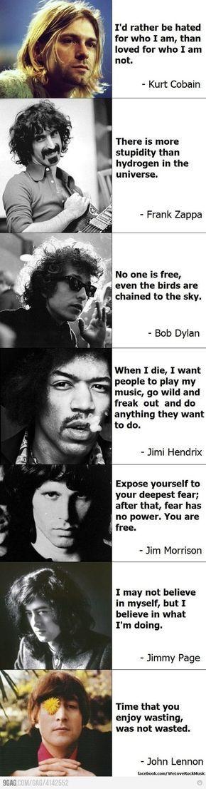 • kurt cobain jimi hendrix john lennon Bob Dylan Jim Morrison Jimmy page frank zappa brandnewaria •