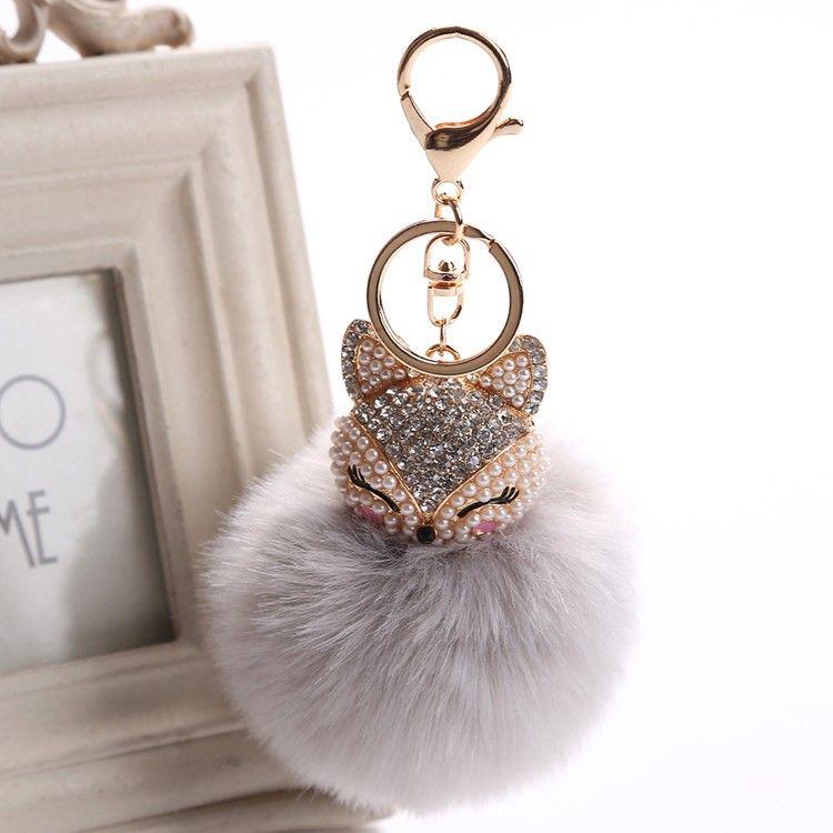 Fashion Lady Heart Leather Crystal Handbag Charm Pendant Keychain Bag Keyring BF