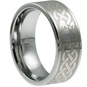 Men S Irish Claddagh Wedding Band Claddagh Ring Wedding Hunting Wedding Rings Mens Wedding Rings