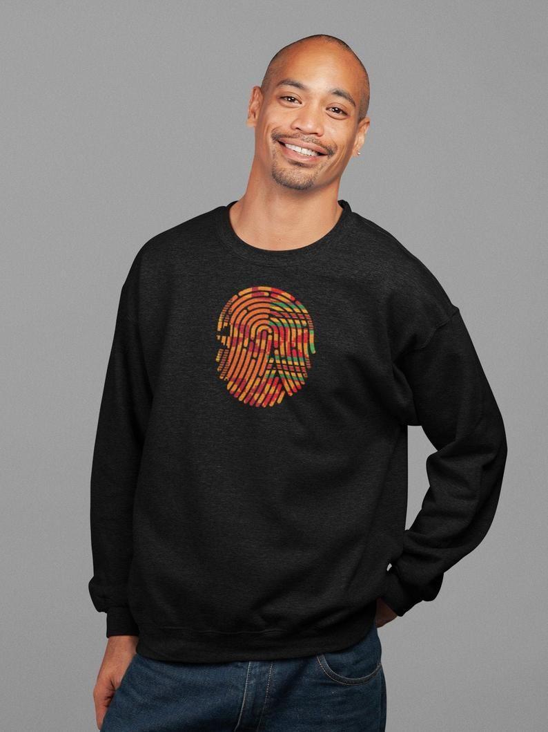 Kente T Shirt Finger Print African Ankara Pride Minimal Etsy Sweatshirts Warm Sweatshirts Long Sleeve Tshirt Men [ 1059 x 794 Pixel ]