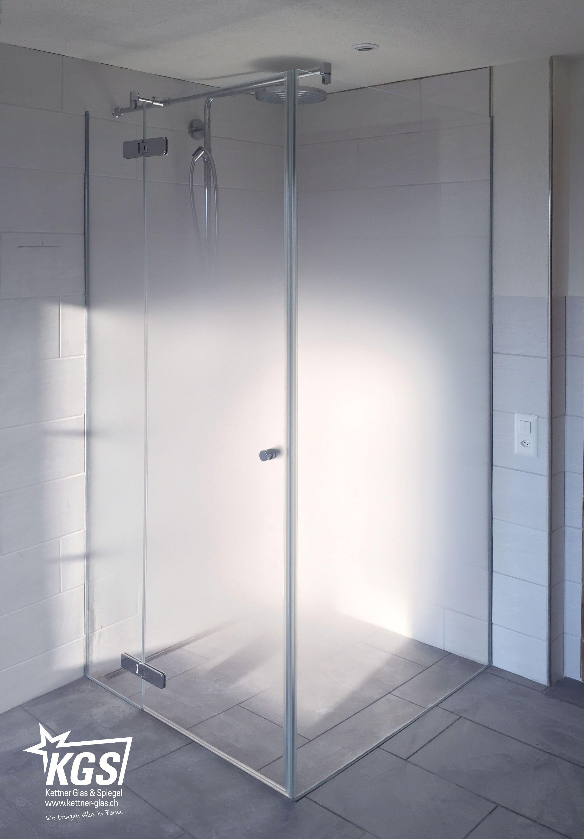 Design Eckdusche Aus Progressiv Geatztem Glas Mit Geschlossener Glasture Eckduschen Dusche Duschkabine
