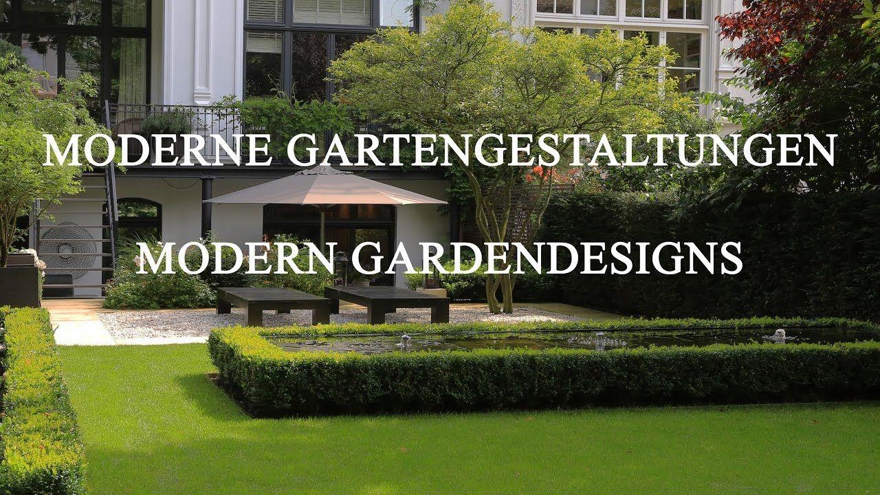Moderne Gartengestaltungen Vorher Nachher Bilder Im Video Garten Garten Design Moderner Garten