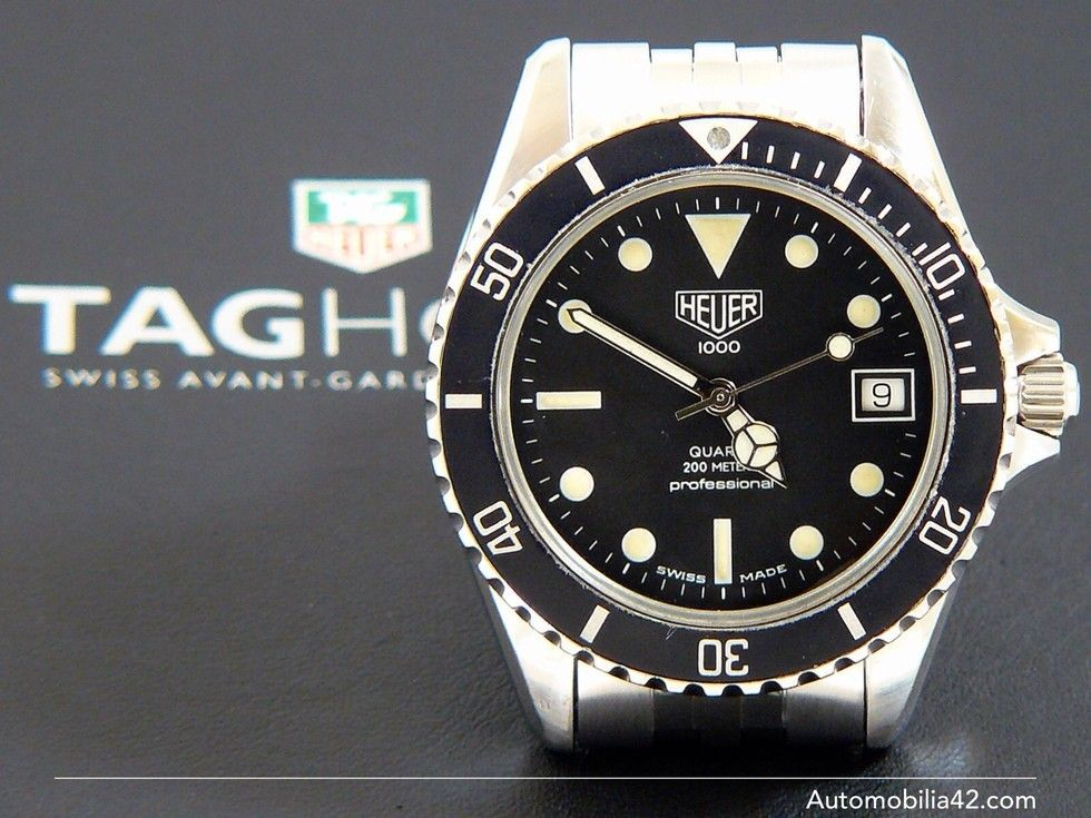(Pre-TAG) Heuer 1000 Submariner Man Stainless Steel with a ...