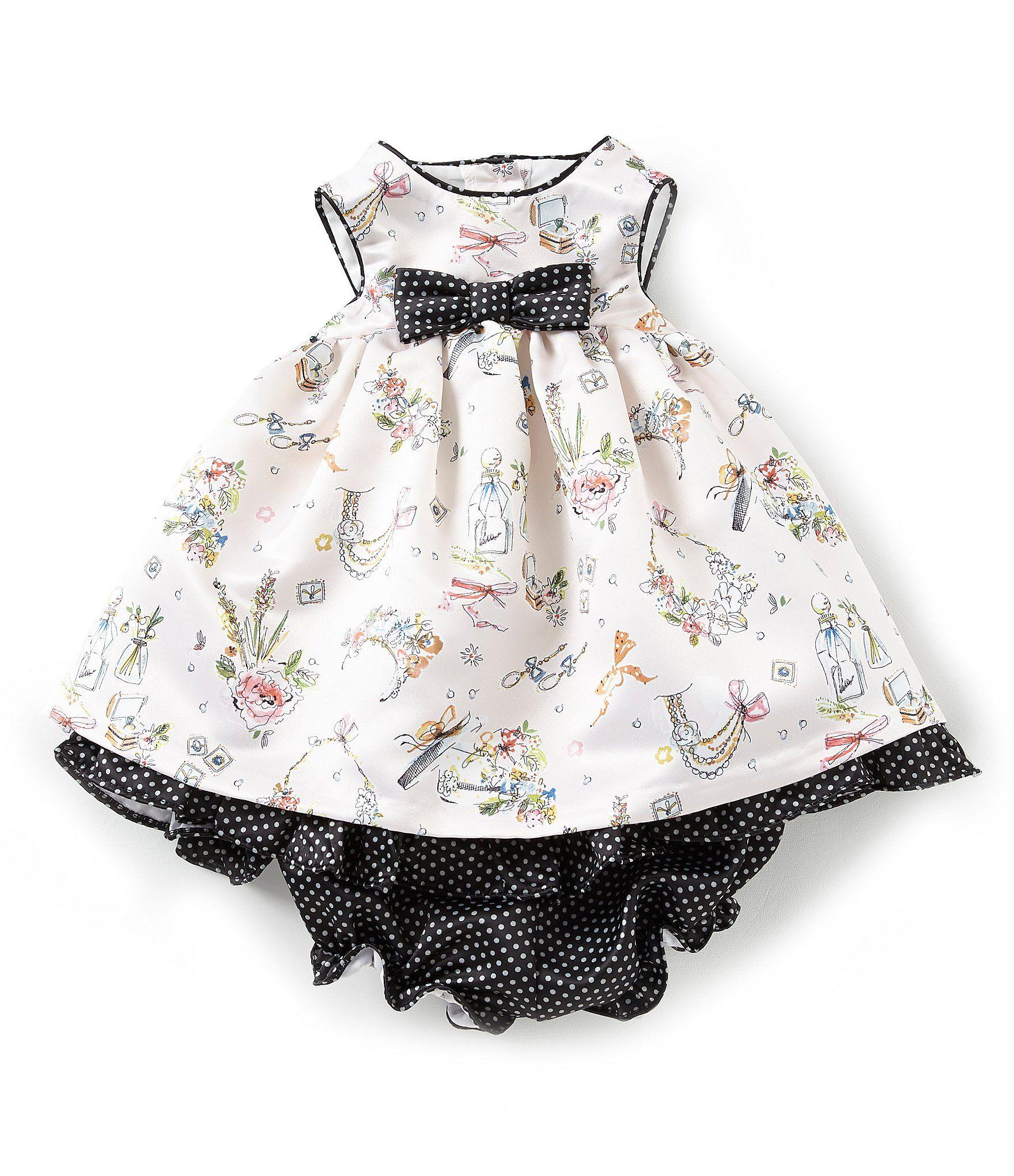 38aee081c Laura Ashley London Baby Girls Newborn24 Months SketchPrinted FitAndFlare  Dress #Dillards