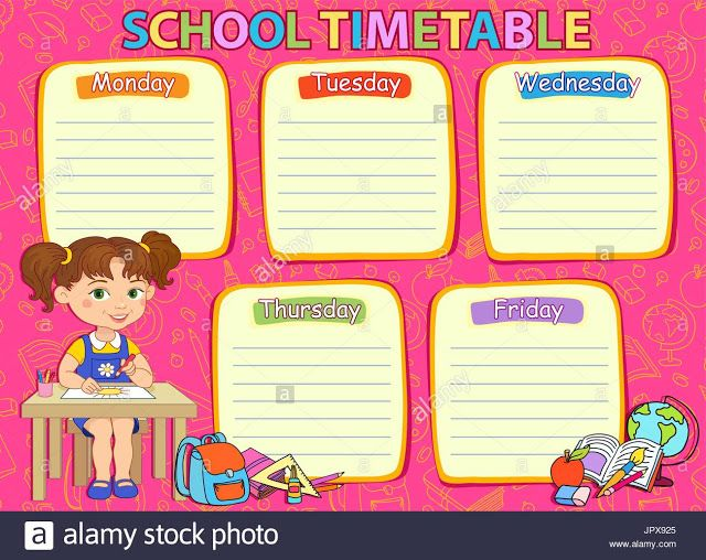 Daily Timetable Template For Teachers | Timetable Templates For ...