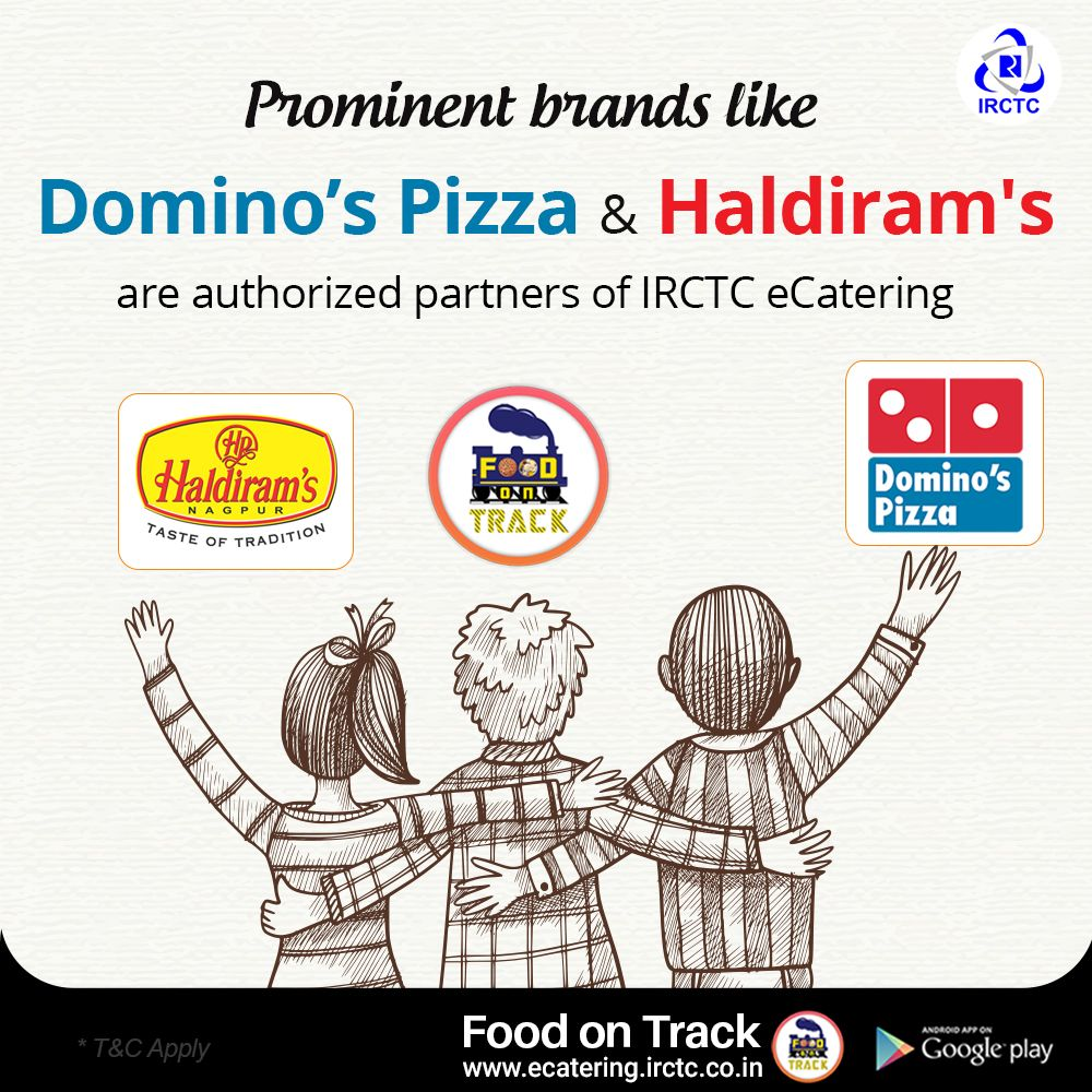 Prominent Brands like Domino's Pizza & Haldiram's are
