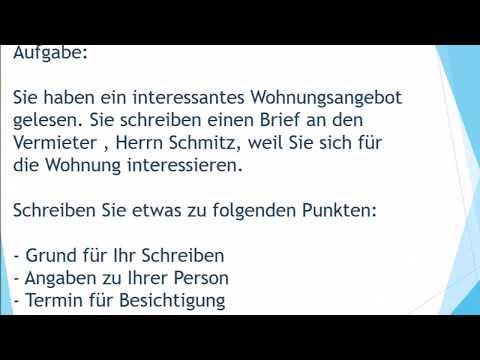 Neue Wohnung Mieten Brief Schreiben Zur Prufung B1 German Akademie German Language Learning German Language Deutsch Language
