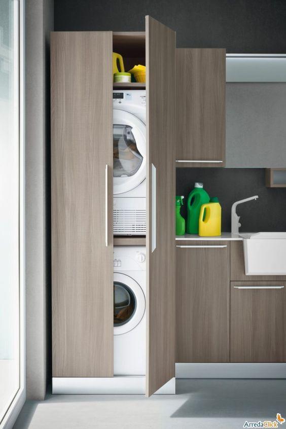 Mobile a colonna per lavatrice e asciugatrice. | MROWINO | Pinterest ...
