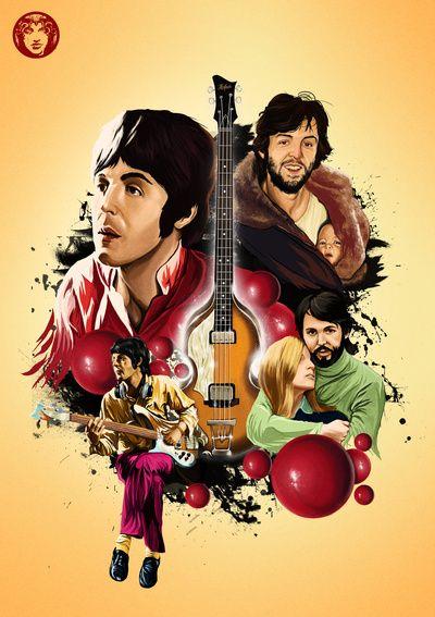 Paul McCartney Tribute Art Print