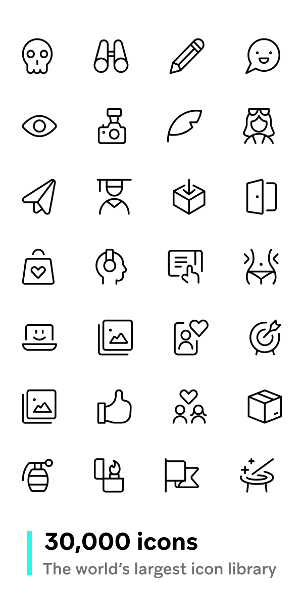 30 000 Icons In Three Different Weights Web Design Icon Icon Design Inspiration Icon Design