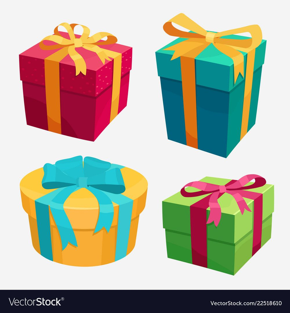 gift boxes set with red ribbon and bow vector image on vectorstock in 2020 gift vector christmas present boxes gifts gift vector christmas present boxes