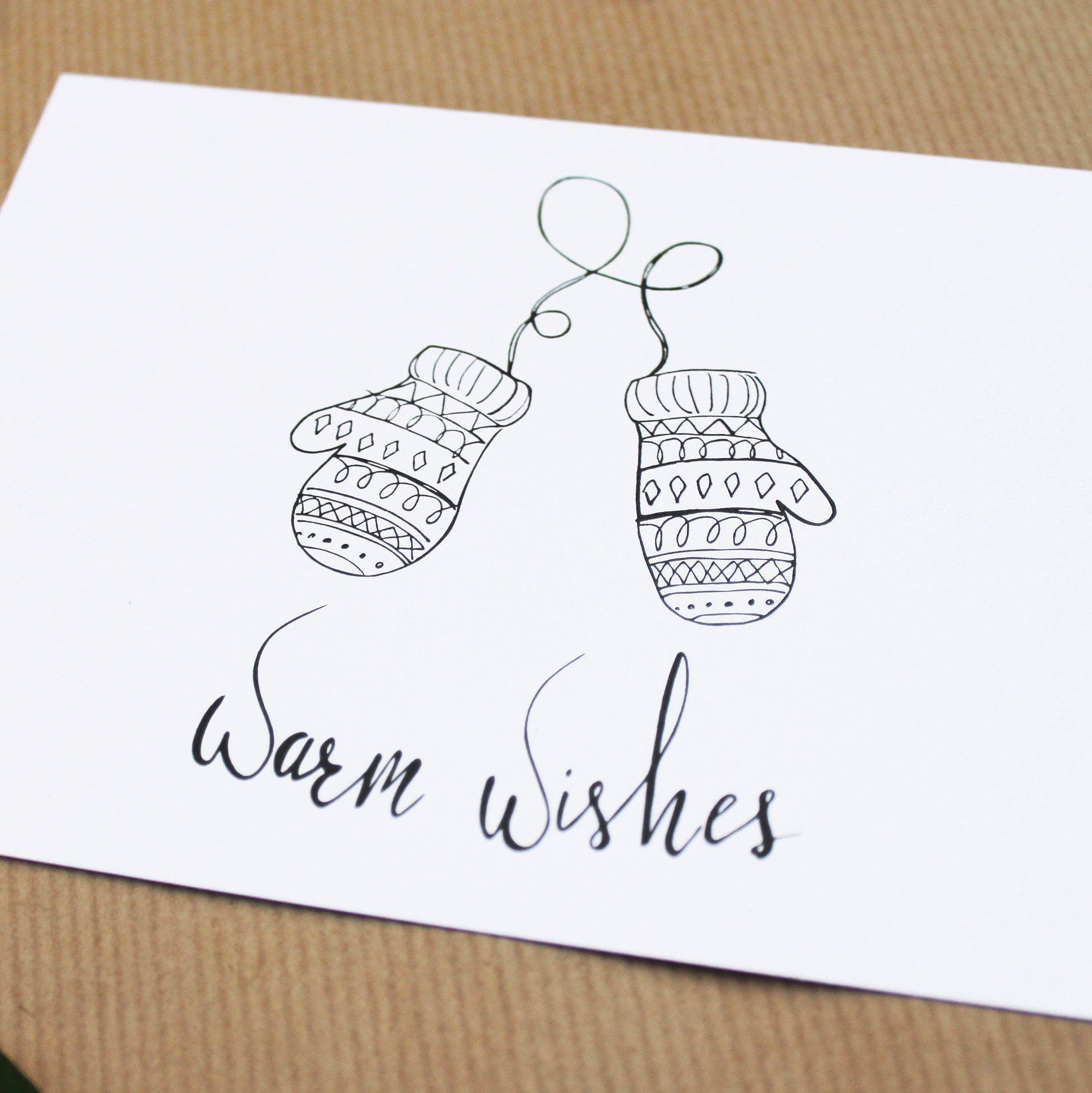 Warm wishes, christmas, new years card, postcard, hand drawn #christmascard #postcard #madebyhand