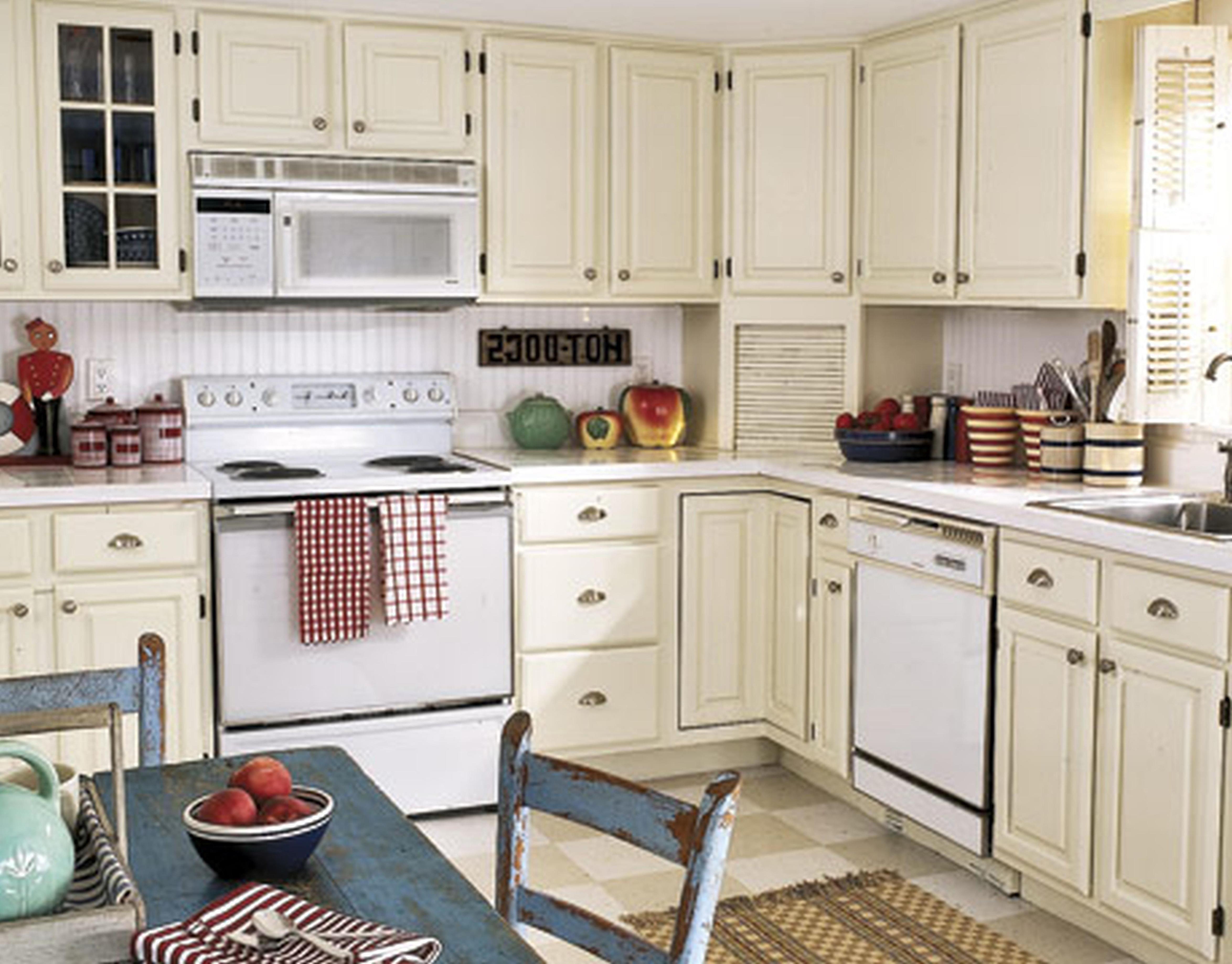 Vintage Shabby Chic Kitchen Cabinets 20 En 2020 Cocinas Pequenas Cocinas Interiores