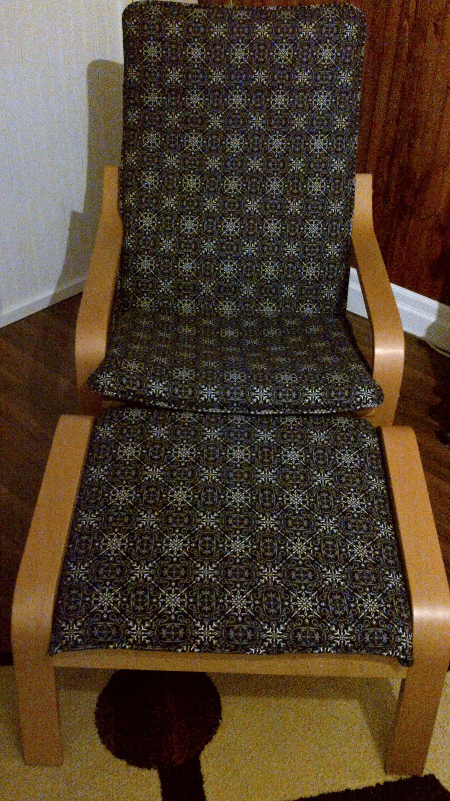 Super Easy Ikea Poang Chair Cover Diy Diy Chair Covers Ikea Poang Chair Ikea Chair Cover