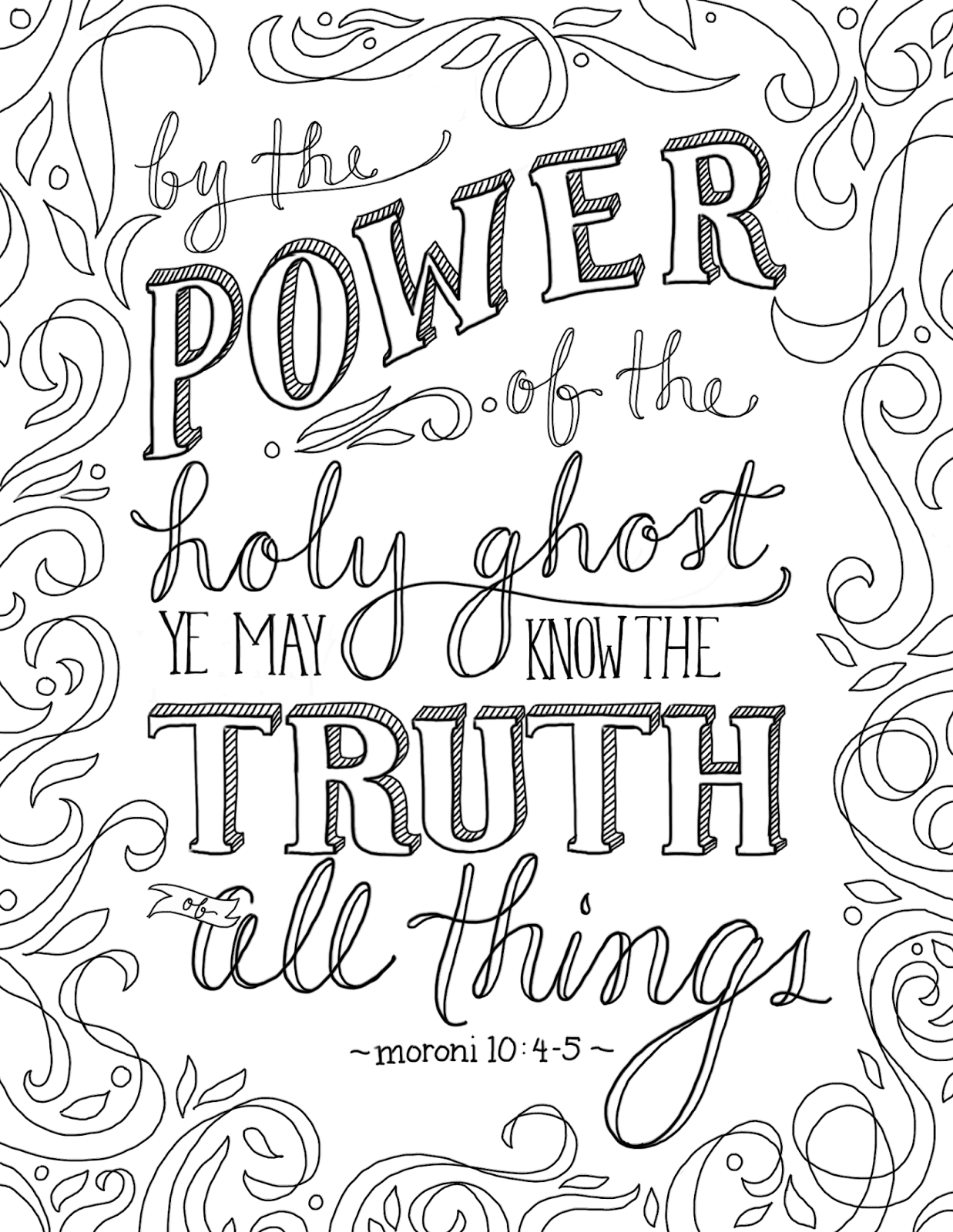 Just What I Squeeze In The Truth Of All Things Coloring Page 2 Lds Coloring Pages Quote Coloring Pages Bible Coloring Pages