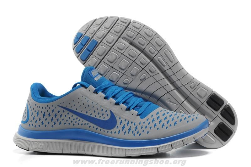Authentic 511457-040 Nike Free 3.0 V4 Mens Wolf Grey Game Royal