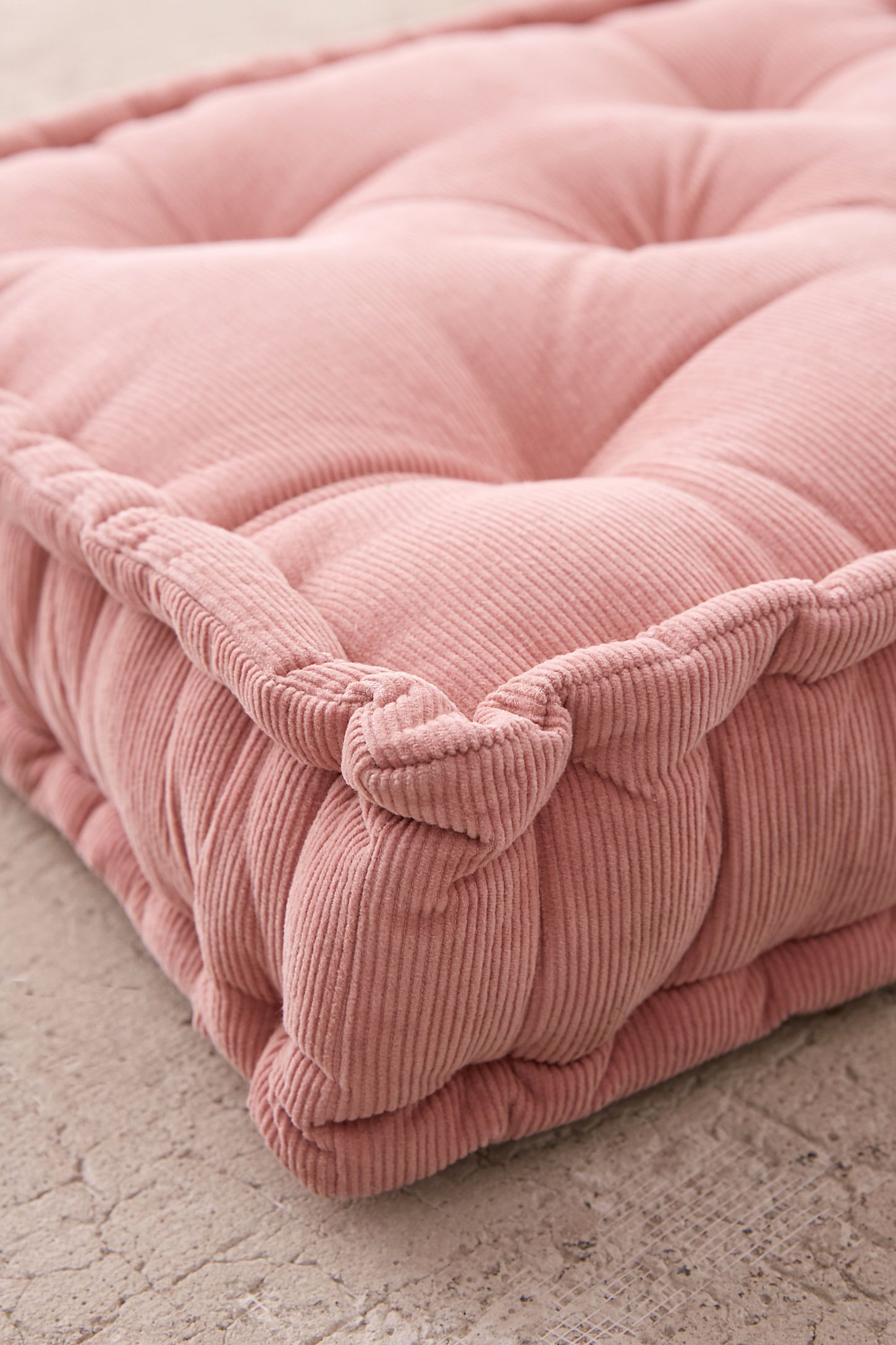 Washed Corduroy Floor Pillow In 2020 Floor Pillows Mattress Cushion French Mattress Cushion